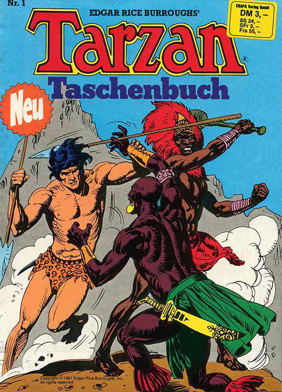 Tarzan Taschenbuch Nr. 1 von 1981
