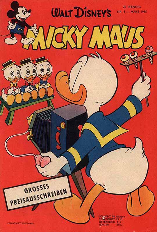 Frühe Micky Maus Comics von 1951 – 1955