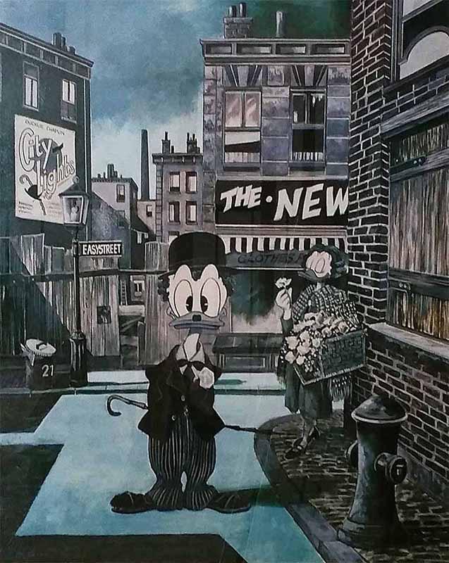 Charlie Chaplin, Kunstdruck des Ehapa Verlags