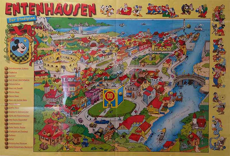 Stadtplan von Entenhausen